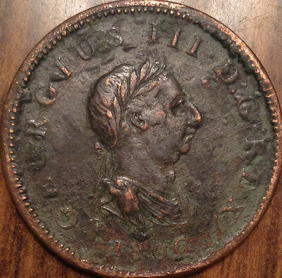 1806 Gb United Kingdom Half Penny In Better Grade - Corroded