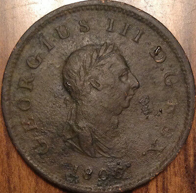 1806 Gb United Kingdom Half Penny