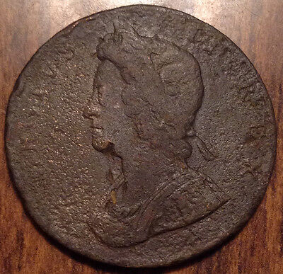 17?? Uk Gb Great Britain Halfpenny In Better Grade But Date Hard To Read