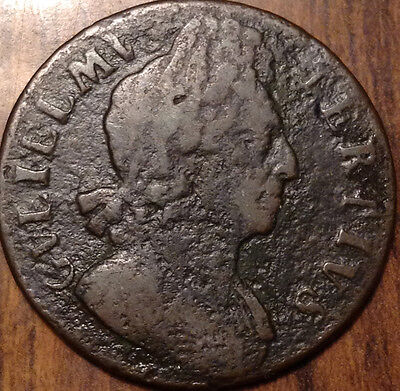 1699 Uk Gb Great Britain Halfpenny In Very Good Condition
