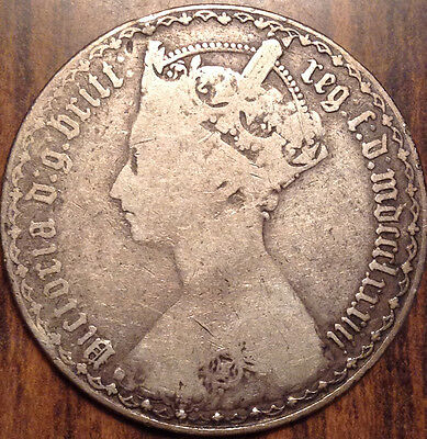 1883 Gb Uk Great Britain Florin In Good Condition !