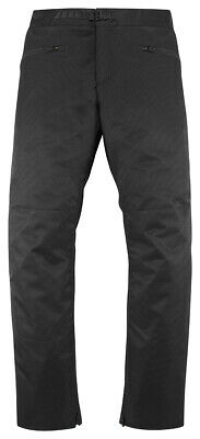 ICON MotoSports OVERLORD Textile Motorcycle Riding Over-Pants (Black) L (Large)