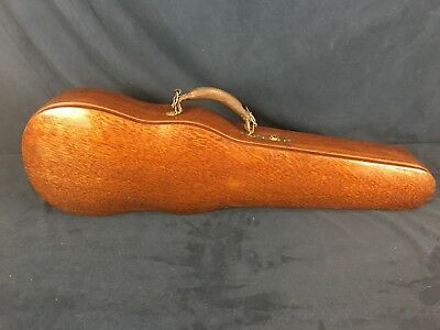 Antique W.E. Hill and Sons 4/4 Violin Case. Quarter-Sawn Oak. Good Condition.