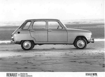 1972 Renault 6 TL ORIGINAL Factory Photo oua2135