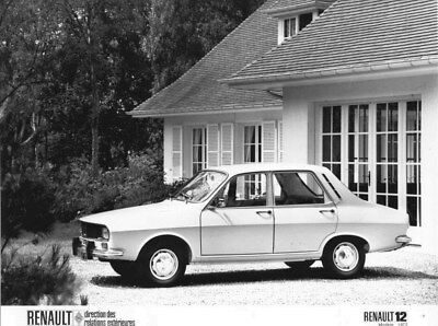 1972 Renault 12 ORIGINAL Factory Photo oua2137
