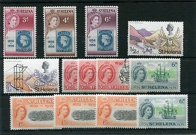 St.helena. 13 -- Qe2 Mounted Mint/used Stamps On Stockcard