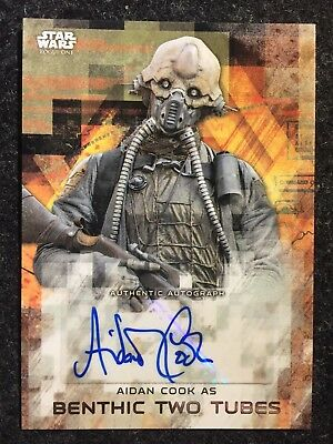 2017 Topps Star Wars Rogue One AIDAN COOK as TWO TUBES  autograph Autogramm
