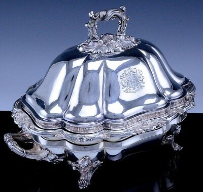 SUPERBc1790 GEORGIAN SILVER SHEFFIELD PLATE ENTREE SERVING DISH ON WARMING STAND
