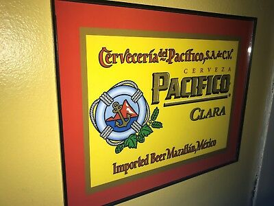 Pacifico Clara Cerveza Beer Bar Tavern Framed Advertising Print Man Cave Sign