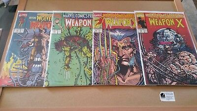 Marvel Comics Presents Weapon X 4 Issue Lot #72, 73, 74, 79