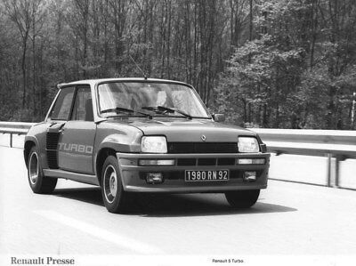 1980 Renault 5 Turbo ORIGINAL Factory Photo oua2231