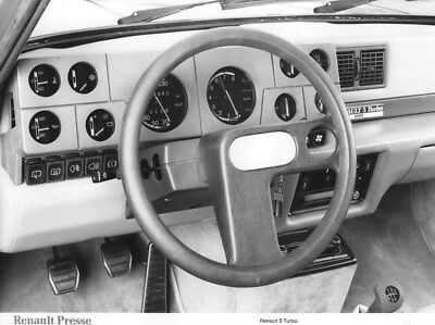 1980 Renault 5 Turbo Interior ORIGINAL Factory Photo oua2238