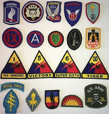 Us Army Full Color Command Brigade Division Patch With Hook Used (B27)