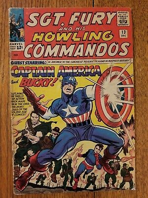Sgt. Fury & His Howling Commandos 13, 1964 Silver Age Marvel Comic GD/VG Capt Am