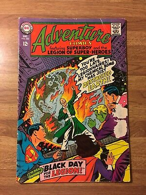 Adventure Comics #363 (DC 1967) Villain Destroys Earth~Morlo~Superman~Silver Age