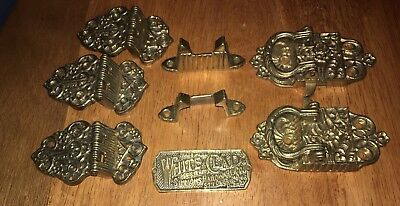 8 PIECE REPRODUCTION Vintage Ice Box Latch and lock Hardware Antique Ice Box