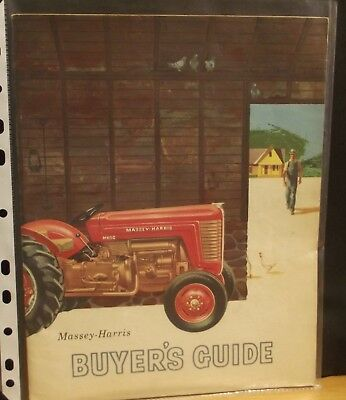 MASSEY HARRIS Buyers Guide, MH50, 333 444 555, VERY GOOD, RARE, ORIGINAL 1955