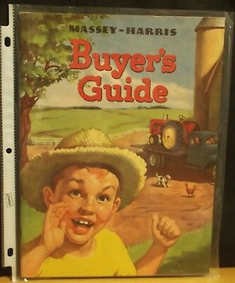 MASSEY HARRIS Buyers Guide, Pony Pacer Colt Mustang 33 44 55, ORIGINAL, 1953
