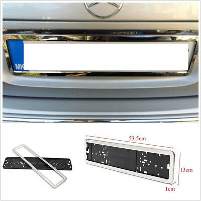 European / German / Russian Car License Plate Frame Stainless Steel Silver Color