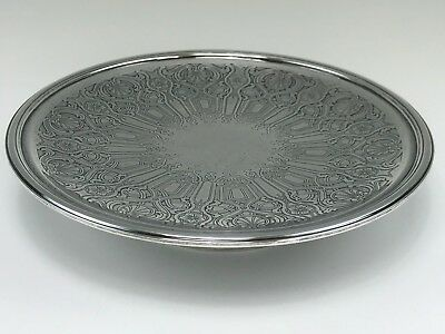"""Tiffany & Co. Sterling Silver 10-1/4"""" Compote / Tray w/ Celtic Knot Style Design"""