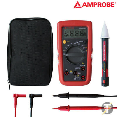 Amprobe AM-500 Selbermachen Profi Digitalmultimeter mit ETUI & Testkabel Plus