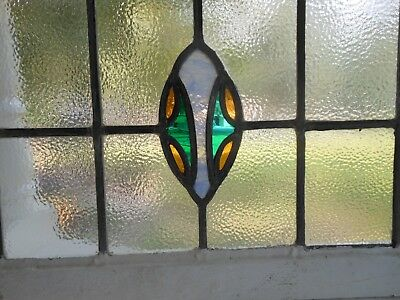 DUR-156 Lovely Large Transom Style Leaded Stained Glass Window From England