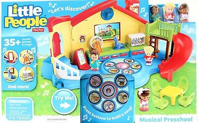 Fisher Price Little People Musical Preschool Playset Includes 3 figures