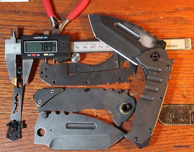 Gene Carr UPGRADE  ALL D2 , or G-10 - RAZOR SHARP TANK Frame Lock Pocket Knife