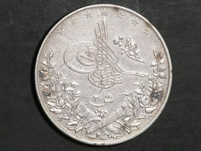 EGYPT 1884W (AH1293/10) 20 Qirsh Silver Crown XF