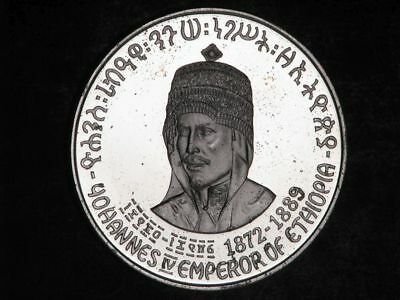 ETHIOPIA 1972 5 Dollars Johannes IV Silver Crown Proof