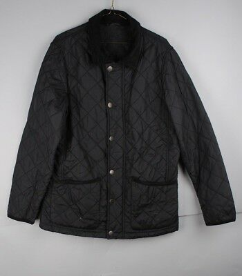 John Lewis Men's Black Quilted Winter Field Coat Size Small, VGC, Jacket