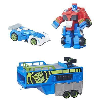NEW Playskool Heroes Transformers Rescue Bots Optimus Prime Racing Trailer B5584