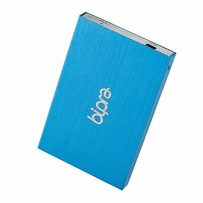 Bipra 750Gb 750 Gb 2.5 Inch External Hard Drive Portable Usb 2.0 - Blue -NTFS