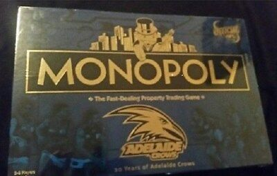 Monopoly Board Game - Adelaide Crows - Limited 20 Years Ed - Afl New Sealed