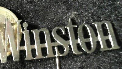 Winston Zigaretten cut out Anstecknadel kein Pin Badge cigarettes tabak tabacco