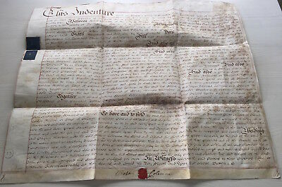 LAC  RARE and NICE LARGE British Parchment Vellum 1785