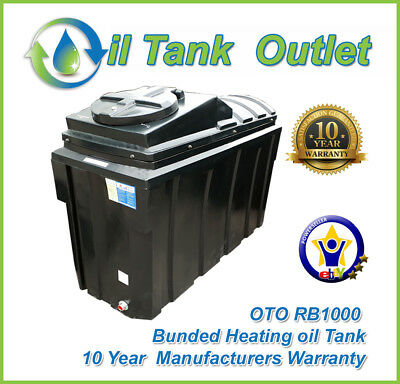OTO Bunded Heating Oil Tank  ~1000ltrs Rectangular Domestic ~ 10 year warranty