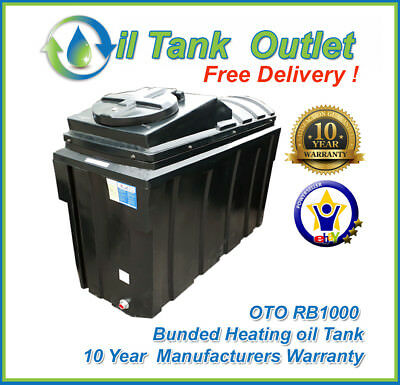 OTO Domestic Heating Oil Tank  ~1000lt Rectangular Bunded ~ FREE DELIVERY!!