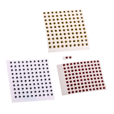 300pcs 3mm Eyes 3D Holographic Fishing Lure Eyes FlyTying Jigs Crafts Doll