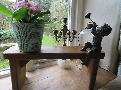 Sturdy Little Vintage French Wooden Country Stool ~ Period Or Country Home