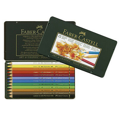 Faber-Castell - Polychromos Colour Pencils - Tin of 12