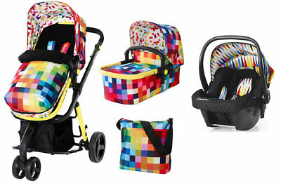 New Cosatto giggle 2 3 in 1 travel system in Pixelate with go brightly car seat