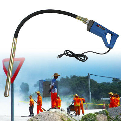 Electric Hand Held 800W Concrete Vibrator Button Lock for constraction+1.2m hose