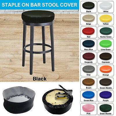 Bar Stool Cover STAPLE ON Vinyl Replacement Seat Top Kitchen, Office, Restaurant
