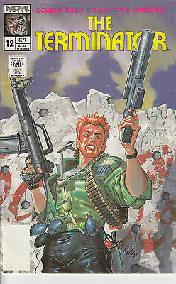 THE TERMINATOR 12...NM-...1989...Ron Fortier...Now Comics...VHTF Bargain!