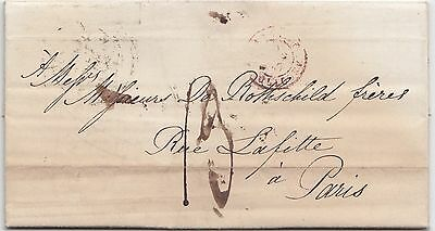 Brief / Letter 1847  from London (Autograph) to Rothschild Paris