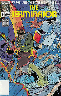 THE TERMINATOR 9...NM-...1989...Ron Fortier...Now Comics...VHTF Bargain!