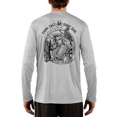 SAND.SALT.SURF.SUN Tiki Girl Men's UPF 50+ UV/Sun Protection Long Sleeve T-Shirt