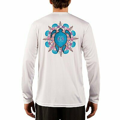 SAND.SALT.SURF.SUN Turtle Shells Men's UPF 50+ Long Sleeve T-Shirt