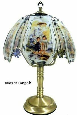 Angel Touch Lamp 7 with Antique Brass Base
